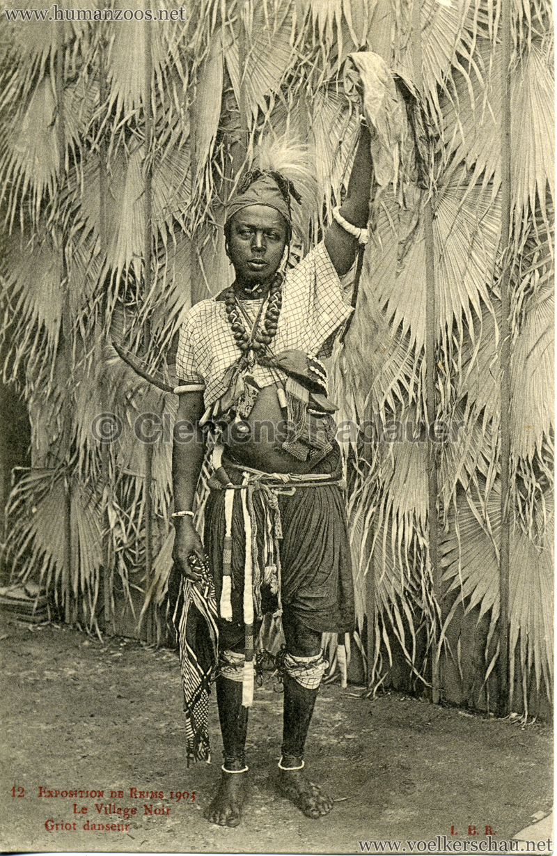 1903 Exposition de Reims - 12. Griot danseur